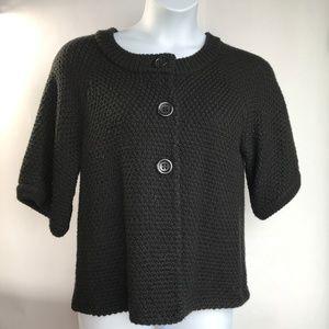 Chico's sz 2 Black Swing Sweater,1/2 sleeve, Black
